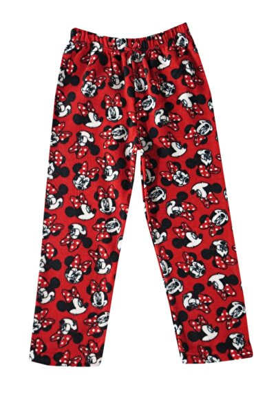 Minnie Mouse Kız Çocuk Kırmızı Polar Alt