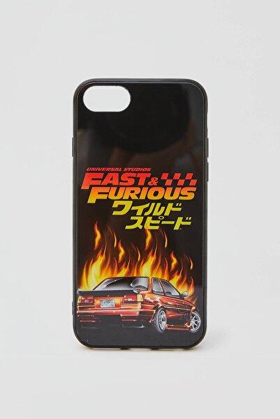 Pull & Bear Kadın Renkli Fast & Furious Görselli Cep Telefonu Kılıfı 04970508