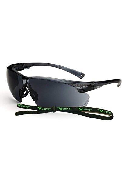 UNIVET Unisex Siyah Buğulanmaz Koruyucu Gözlük + Gözlük İpi 505u.00.00.02