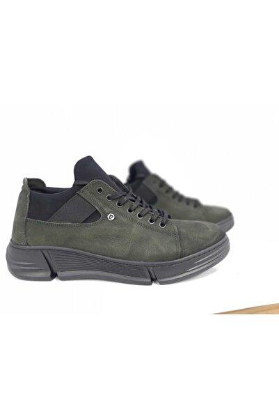Pierre Cardin Erkek  Hakiki Deri Haki Sneaker 122051