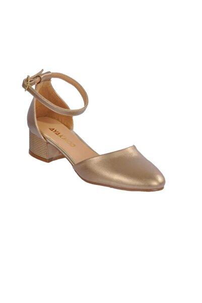 Maje Kadın  Altın Topuklu Ayakkabı 6031