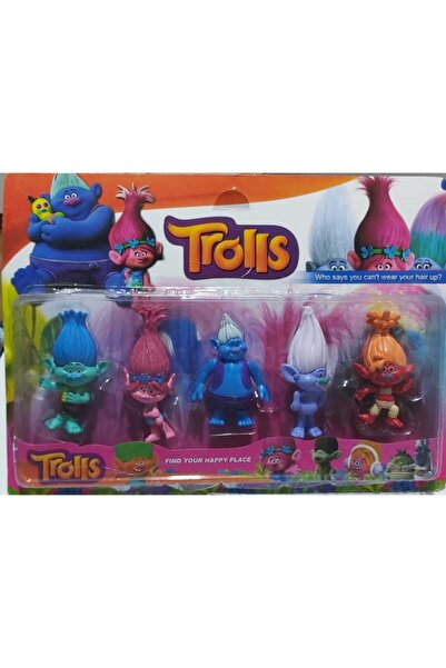 Trolls Figür Oyuncak Seti 5'li
