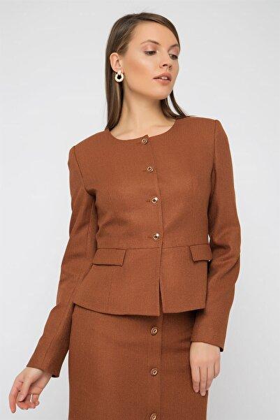 Chima Metal Düğmeli Mini Ceket