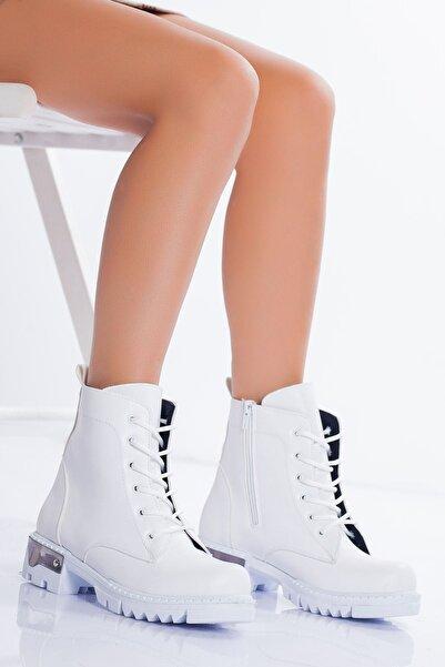 derithy Kadın Beyaz Bot & Bootie
