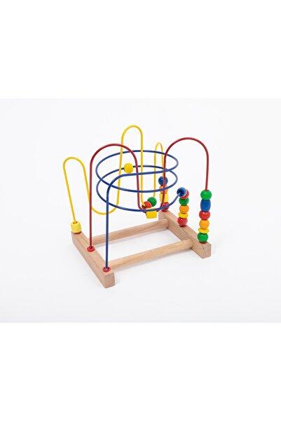 Capioz Ahşap Koordinasyon Oyunu Ahşap Helezon Oyunu Eğitici Oyuncak Orta Boy %100 Doğal Ahşap