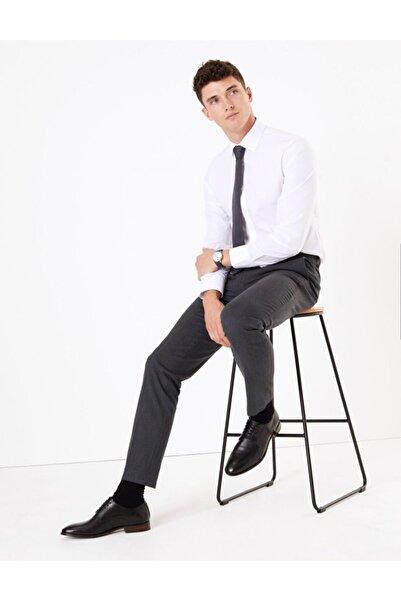 Marks & Spencer Erkek Gri Streç Slim Fit Pantolon T18004233F