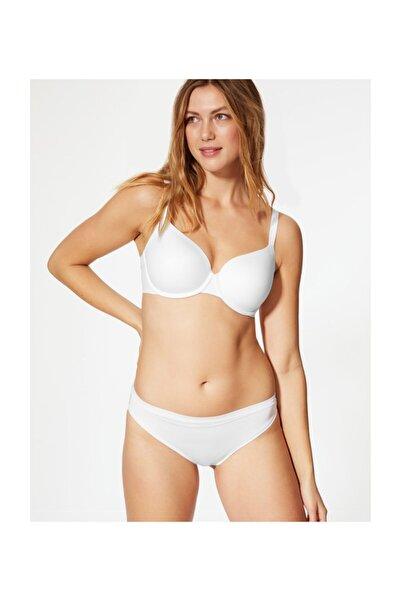 Marks & Spencer Kadın Beyaz Yumuşak Full Cup T-Shirt Sütyeni T33002051