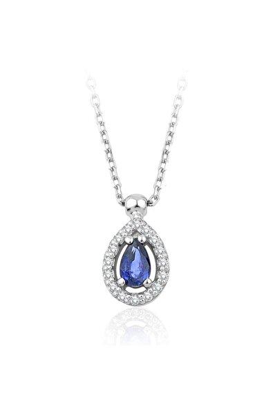 EMEL DIAMOND 0.30 Karat Pırlanta Safir Kolye