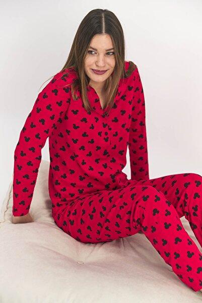 Mickey Mouse Kırmızı Gömlek Pijama