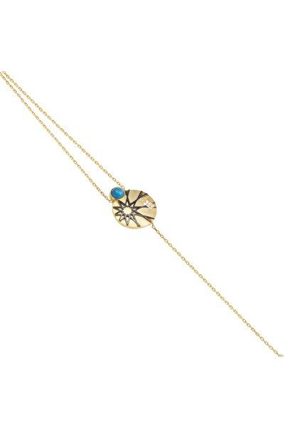 So CHIC... Kadın Selçuklu Yıldızı Figürlü Sarı Gümüş Bileklik