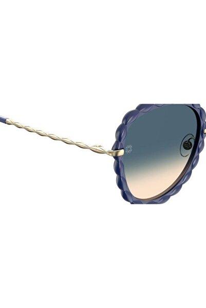 Elie Saab Elıe Saab Kadın Lacivert  Güneş Gözlüğü Es060/s Lngy1ı