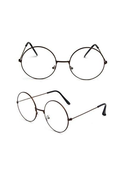 ALSANALDAN Unisex Harry Potter Anti Mavi Işınlı  Retro Metal Çerçeve Şeffaf Lens Gözlük