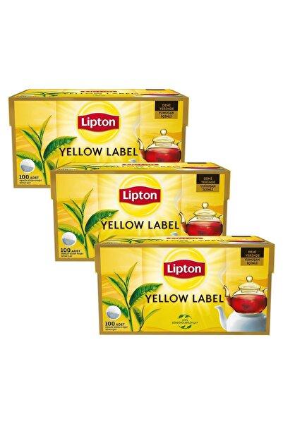 Lipton Yellow Label Demlik Poşet Çay 100'lü X 3 Adet