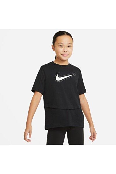 Nike Unisex Çocuk Siyah Sportswear Dri-fıt Trophy Tişört