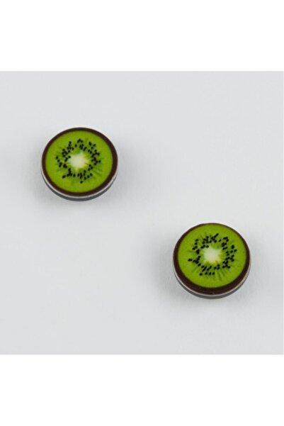 LAVİNİA Kivi Figürlü Mıknatıslı Minik Küpe - Yeşil