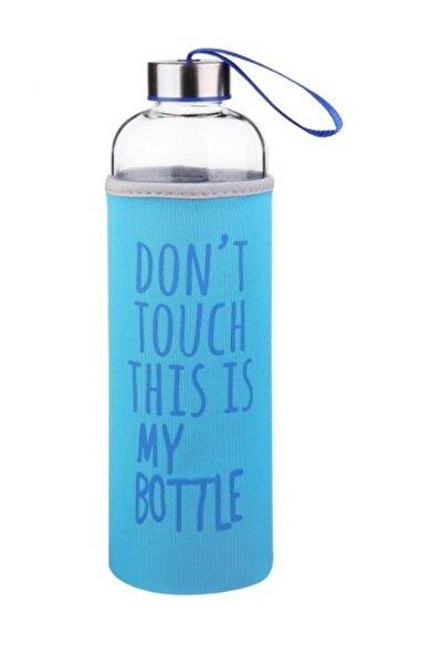 AnkaShop My Bottle Borosilikat Cam Matara 1000 Ml Borcam Su Şişesi 1 Lt Mavi
