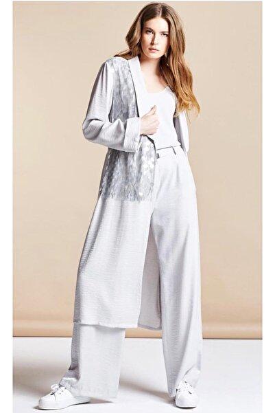 SERPİL Kadın Payetli Uzun Ceket