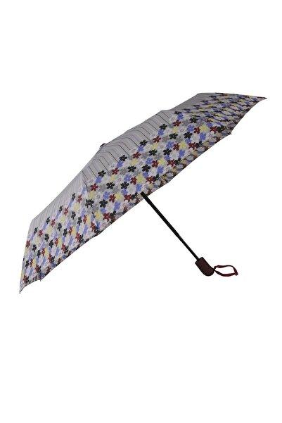 TREND Tam Otomatik Şemsiye Çiçek Desenli Gri 6638