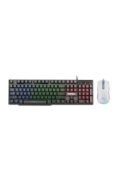 Rampage Everest Rampge X-lumos Gökkuşağı Aygınlatmalı Rgb 6400 Dpı Klavye Mouse Set