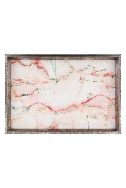 Mudo Concept Pınk Marble Dekoratif Tepsi 31x46 cm