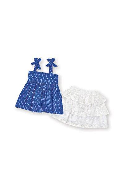 Wonder Kıds Kız Çocuk Mavi Etek Takım Wk15s2909