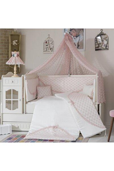Mini Baby Daisy Pudra Bebek Uyku Seti 10 Parça Cibinlik Ve Aparatı  60x120