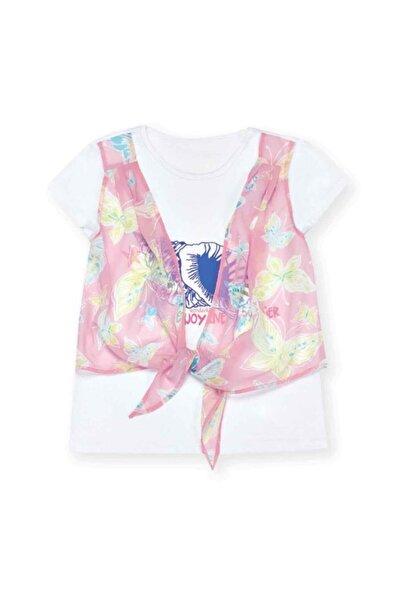 Wonder Kıds Kız Çocuk Beyaz T-shirt Wk16s1723