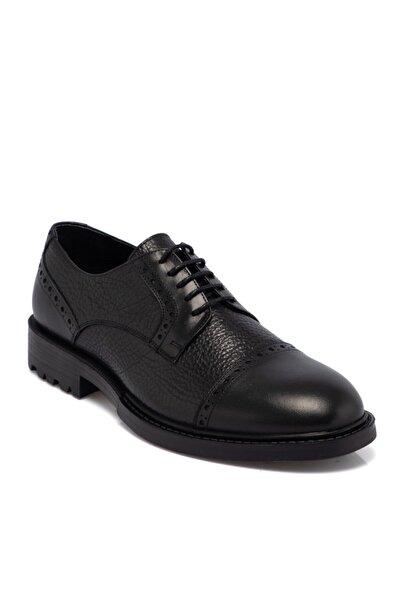 Tergan Erkek Siyah Deri Ayakkabı