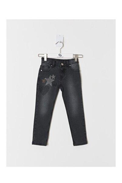 Wonder Kıds Kız Çocuk Siyah Kot Pantolon wk19aw1232
