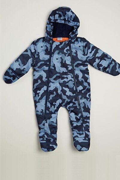 Wonder Kıds Wonder Kids Erkek Bebek Baskılı Kışlık Astronot Tulum Mont Wk20aw3049