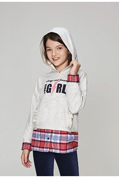 Wonder Kıds K��z Çocuk Gri Sweatshirt Wk19aw1406