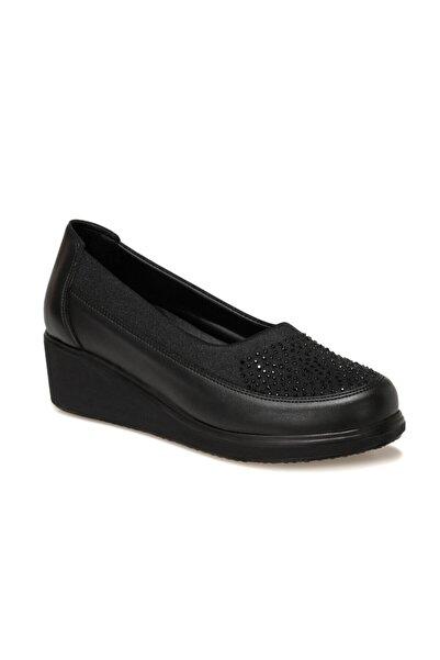 Polaris 5 Nokta Kadın Siyah Klasik Ayakkabı