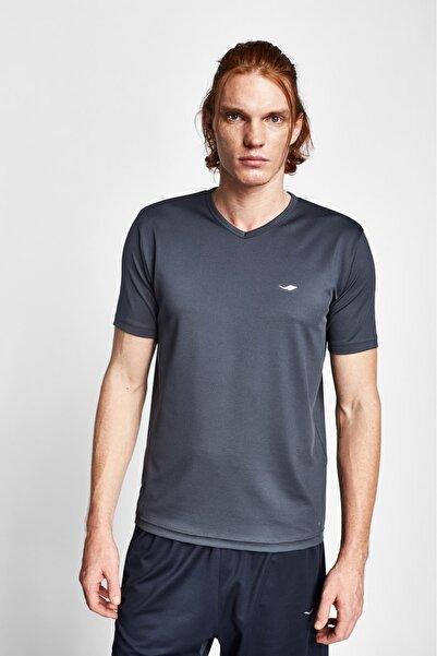 Lescon Unisex Antrasit Kısa Kol T-shirt