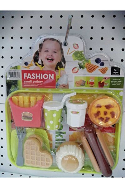 Canda Oyuncak Vakumlu Tepside Fast Food Set