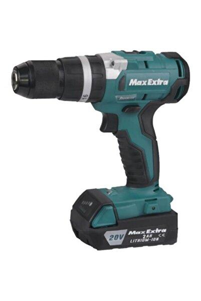Max Extra Maxextra Mxp 2940 Kömürüsz Akülü Matkap 20v 2.0ah Plastik Çantalı