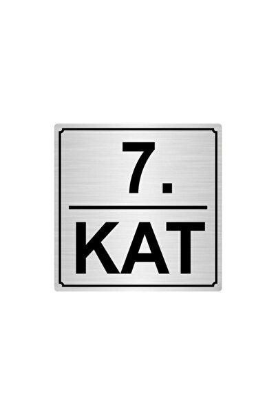 Artı 7.kat Metal Yönlendirme Levhası 20cmx20cm Gümüş Renk