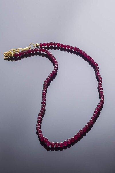 eysell jewellery Jade 3 Mm Faset 925 Ayar Gümüş Aparat Kolye