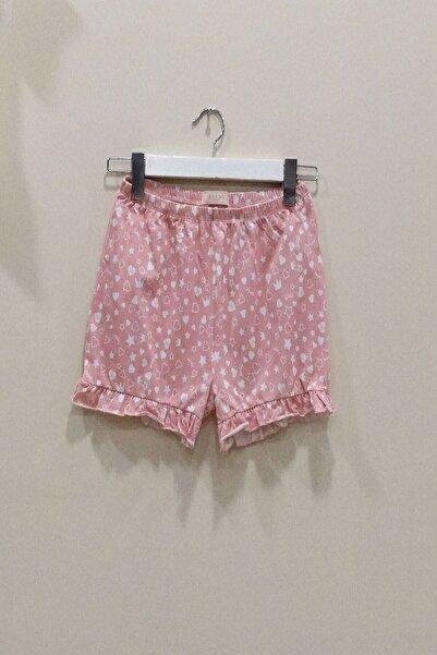 Tshigo Pembe Kalp Paçası Fırfırlı Şort Pijama Alt