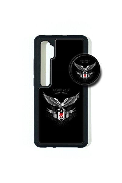 AVS KILIF Xiaomi Redmi Note 10 Lite Popsocketli Kılıf Epoksi & Silikon Arka Kapak Beşiktaş