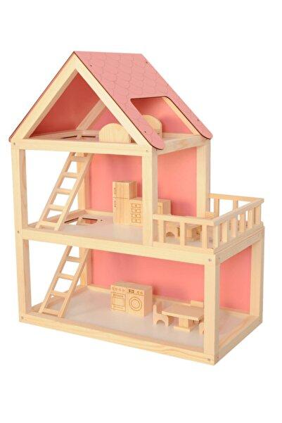 Weise Ağaç Pembe Barbie Ev 68 Cm Demonte Ahşap Oyuncak Evi