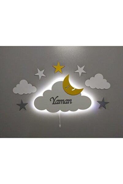 fabrikahşap Isimli Dekoratif Ahşap Bulut Gece Lambası Ledli Aydınlatma