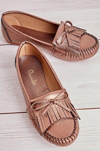Bambi Metalik Kadın Loafer Ayakkabı L05421231