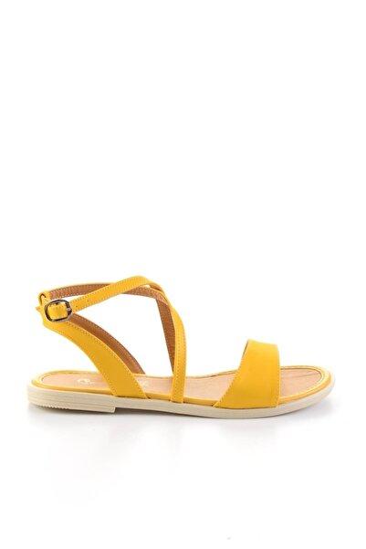 Bambi Sarı Kadın Sandalet