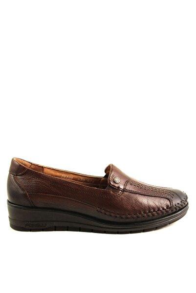 Forelli 25182 Kadın Kahve Deri Kemik Çıkıntısına Özel Comfort Ayakkabı