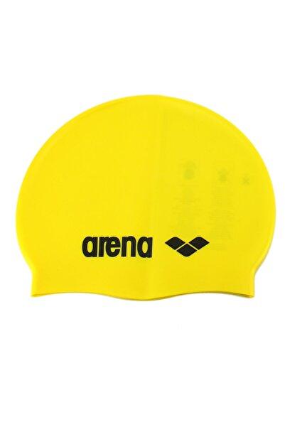 ARENA Classic Silıcone Sarı Yüzme Bonesi