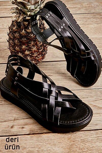 Bambi Siyah Kadın Sandalet L0529030503