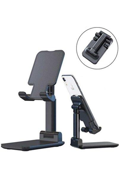 zore Ipad - Tablet - Telefon Tutucu Standı Masa Üstü Katlanabilir Metal