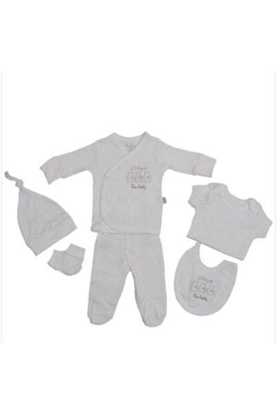Pierre Cardin Baby Unisex Gri Baby Organic 5 Li Hastane Çıkışı