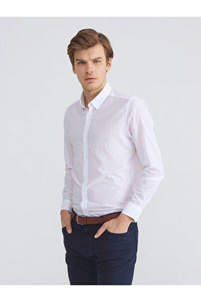 Xint Xınt %100 Pamuk Slim Fit Basic Gömlek
