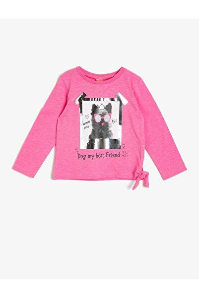 Koton Kız Bebek Pembe Yazili Baskılı T-Shirt